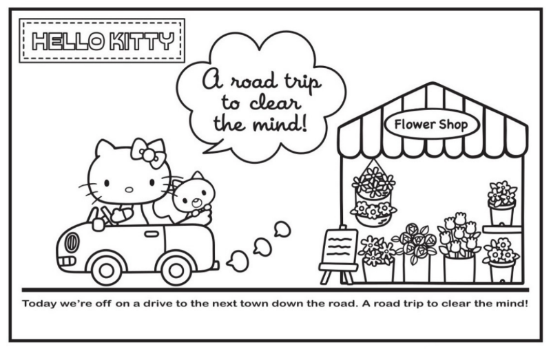Hello Kitty 03 Impression Sample Of With Flower Shop