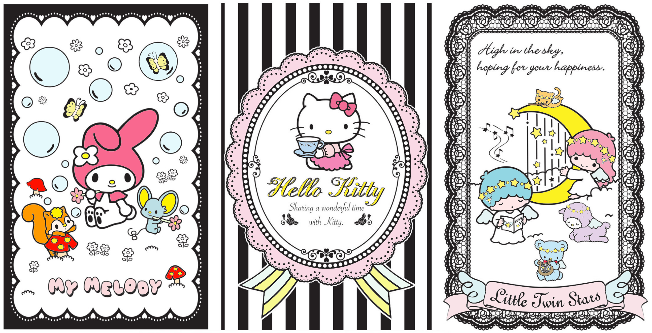Would You Like To Add Decoration Stamp Of Hello Kitty And Friends In Your Card Making